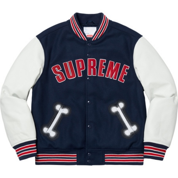 31e60b2c3 Supreme Bone Varsity Jacket
